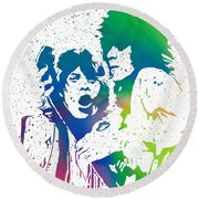 Mick Jagger And Keith Richards Round Beach Towel