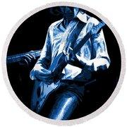 Mick Plays The Blues In Spokane 1977 Round Beach Towel
