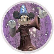 Mickey And The Stars Round Beach Towel