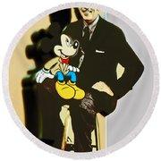 Mickey And Walt Round Beach Towel