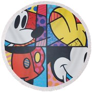 Mickey Round Beach Towel