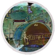 Mick's Drums Round Beach Towel by Paulette B Wright