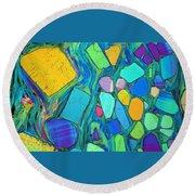 Art And Geology Round Beach Towel