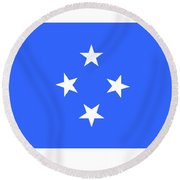 Micronesia Flag Round Beach Towel