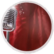 Microphone Round Beach Towel