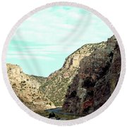 Mid Day Relief Round Beach Towel
