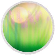 Mid Summer Morning Round Beach Towel
