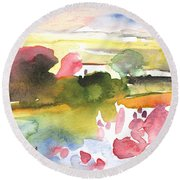 Midday 33 Round Beach Towel