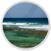 Midday Breakers Round Beach Towel