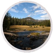 Middle Fork Of The San Joaquin River Round Beach Towel