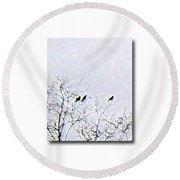 Middle March Round Beach Towel