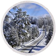 Middle Road Franklin Round Beach Towel