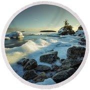 Middlebrun Bay Sunset II Round Beach Towel