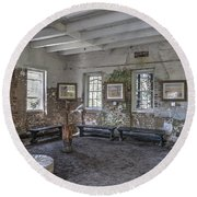 Middleton Place Rice Mill Interior Round Beach Towel