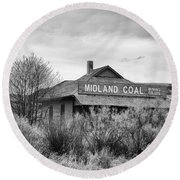 Midland Coal Mining Co. Round Beach Towel