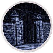 Midnight At The Prison Gates Round Beach Towel