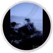 Midnight Cypress Round Beach Towel