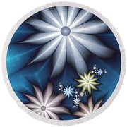 Midnight In Spring Round Beach Towel