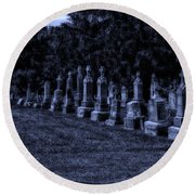 Midnight In The Garden Of Stones Round Beach Towel by Thomas Woolworth