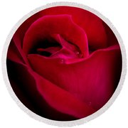 Midnight Rose Round Beach Towel