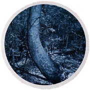 Midnight Woods Round Beach Towel