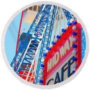 Midway Cafe Round Beach Towel