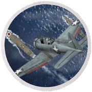 Midway Moment Round Beach Towel