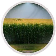 Midwest Gold Round Beach Towel