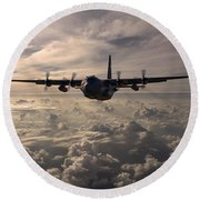 Mighty Hercules Round Beach Towel