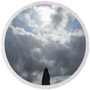 Mighty Megalith At Callanish II Round Beach Towel