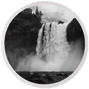 Mighty Snoqualmie Round Beach Towel