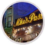 Mike's Pastry Shop - Boston Round Beach Towel by Joann Vitali