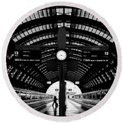 Milano Centrale - Train Station Round Beach Towel