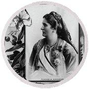 Milena Vukotic (1847-1923) Round Beach Towel