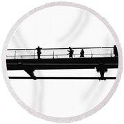 Milennium Bridge In London Round Beach Towel