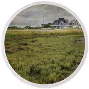 Milford Point Beach Round Beach Towel