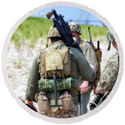 Military Small Arms 03 Ww II Round Beach Towel by Thomas Woolworth