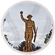 Military Soldier Memorial Round Beach Towel