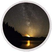 Milky Way At Crafnant 2 Round Beach Towel