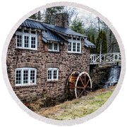 Mill Along The Delaware River In West Trenton Round Beach Towel