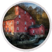 Mill - Clinton Nj - The Old Mill Round Beach Towel
