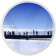 Millenium Bridge London Round Beach Towel