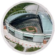 Miller Park Milwaukee Wisconsin Round Beach Towel