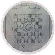 Milton Bradley Life Game Patent Round Beach Towel