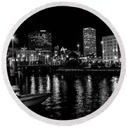 Milwaukee Downtown Third Ward Round Beach Towel