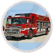Milwaukee Fire Dept. Rescue 1  Round Beach Towel