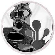 Milwaukee In Abstract Round Beach Towel