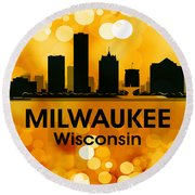Milwaukee Wi 3 Round Beach Towel by Angelina Vick