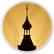 Minaret Round Beach Towel