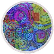 Out Of My Mind Round Beach Towel